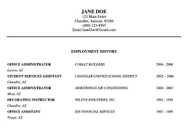 resume employment historyresume writing examples