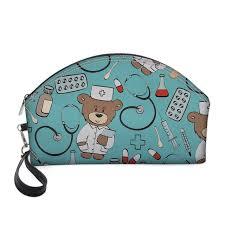 <b>FORUDESIGNS</b> Cute Nurse Bear Printing <b>Cosmetic</b> Bag <b>Women</b> ...