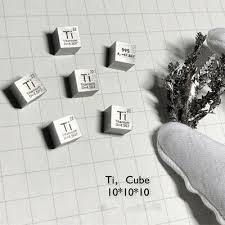 <b>99.5</b>% <b>High Purity Titanium Ti</b> 10mm Metal Carved Element Periodic ...