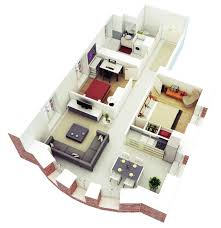 awesome 3d floor plans for small or medium house plan contemporary living room decorating awesome 3d floor plans