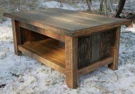 rustic reclaimed coffee table by echopeakdesign on etsy build your own rustic furniture