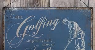 Gone Golfing <b>Vintage</b> Metal <b>Wall</b> Sign <b>Plaque</b> - Golf Hobby - A4 ...