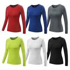Women's Workout Running <b>Yoga Long</b> Sleeve Fitness Sport <b>Tight</b> ...