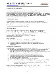 sample resume for oracle pl sql developer fresher resume and oracle sql developer resume sample job and resume template