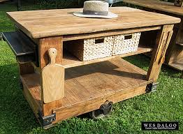 rustic kitchen island:  contemporary modern industrial rustic kitchen island cart furniture