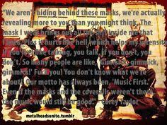 R n f'n r on Pinterest | Slipknot, Corey Taylor and Rise Against