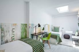 decorate exciting chic fun kids teens bedroom interior artistic green tone cheers words wall artwork architecture architectural mirrored furniture design ideas wood