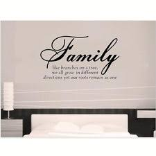 wall decal family art bedroom decor diy family words removable wall stickers art vinyl quote decal home room decor