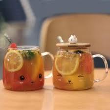 Pandapark New <b>Cute Creative Cat Kitty</b> Glass Mug   Coffee Mugs ...