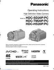 Panasonic HDC-HS20P Manuals