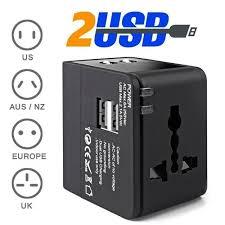 Universal Travel Adapter Wall Charger <b>AU UK US EU</b> AC Power ...