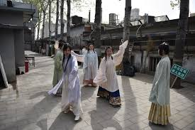 Back to the <b>Hanfu</b>-ture: Young <b>Chinese</b> revive ancient fashion - Art ...