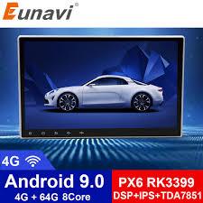 Автомагнитола Eunavi, <b>2 Din</b>, <b>универсальная</b>, Android 9,0, стерео ...