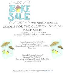 glenforest school ptso bake