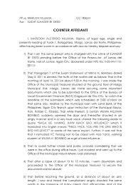 affidavit form example xianning affidavit form example counter affidavit sample affidavit