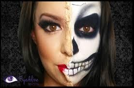 ling half skeleton makeup tutorial by eolizemakeup