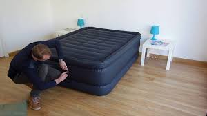 Lit gonflable d'appoint 2 places <b>Intex</b> Raised <b>Downy Bed</b> Fiber Tech ...