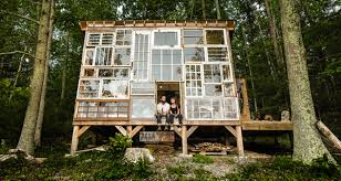 artist couple leave jobs to build cabin of recycled windows in the artist couple leave jobs to build cabin of recycled windows in the west virginia mountains