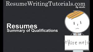 how to write summary of qualifications on resume