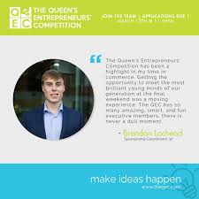 the queen s entrepreneurs competition qec home facebook image contain 1 person text