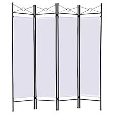 Brown <b>4 Panel Room Divider</b> Privacy Folding Screen Home Office ...