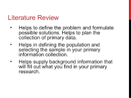 Literature Review APA Style Format