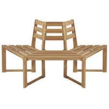 "<b>Tree Bench Half-hexagonal</b> 63"" Solid Acacia Wood | eBay"