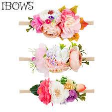 Artificial <b>Fake Flowers Headband</b> Nylon Head Bands With <b>Beautiful</b> ...