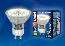 <b>Uniel GU10</b> Вт (04009) купить в интернет-магазине <b>Лампочки</b>.ру