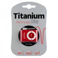 MP3-<b>плеер Perfeo Titanium Lite</b> PF_A4143, бордовый