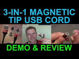 <b>3-in-1 Magnetic</b> Tip USB Type-C Lighting Micro USB Charging Data ...