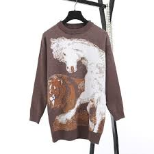<b>2018 New</b> Women Sweaters Brown Long Style Pullovers Fashion ...