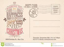 vintage merry christmas holiday postcard stock vector image vintage merry christmas holiday postcard