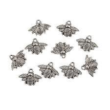 <b>10pcs</b> honeybee <b>bee insect</b> Tibetan Silver <b>Charm</b> Pendant Bead ...
