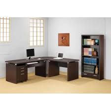 modern corner computer desk furniture with brown rack drawers simple and cheap computer desk design for cheap office drawers