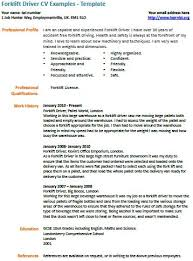 forklift driver cv example   learnist org