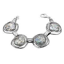 Paz Creations .<b>925 Sterling Silver</b> Pearl and <b>Roman</b> Glass Charm ...