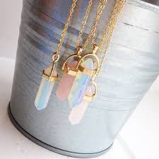 Wholesale <b>Hot Sale Hexagonal Column</b> Quartz Necklaces Pendants ...