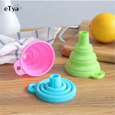 1pcs <b>Mini Foldable Funnel Silicone</b> Collapsible Funnel Folding ...
