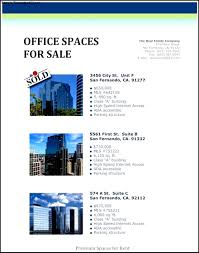 apartment real estate flyer template sample templates office space real estate flyer template