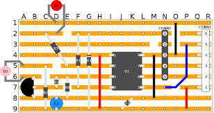 infra red transmittercircuit layout