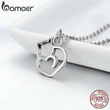 BAMOER Authentic <b>100</b>% <b>925 Sterling Silver</b> Lovely Cat Exquisite ...