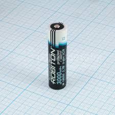 <b>Аккумулятор 18650 Robiton</b> Li-<b>ICR18650</b> 3.7V <b>3000mAh</b>, с ...