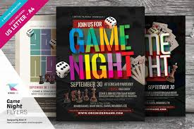 game night flyer templates flyer templates on creative market