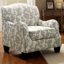 dankona fleur living room accent chair with nailhead trim bca living room furniture