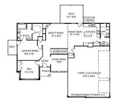 Story House Plans With Basement   One Story House Floor Plans