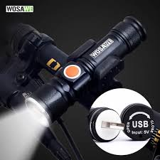 Online Shop <b>WOSAWE</b> USB Rechargeable <b>Bike Light LED</b> 800 ...