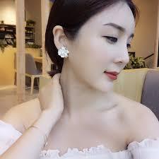 <b>Fashion</b> silver needle <b>flowers</b> stud earrings <b>contracted</b> han edition ...