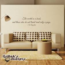 THE WORLD IS A BOOK, AND...TRAVEL - ST. AUGUSTINE Vinyl Wall Decal ... via Relatably.com
