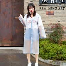 Raincoat female student waterproof protective single piece ... - Vova